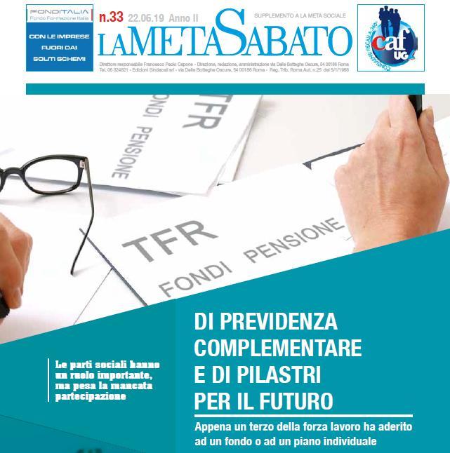 Di Previdenza complementare e di pilastri per il futuro