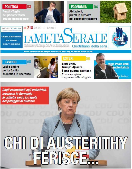 La regola del pareggio di bilancio, in arrivo un boomerang per Angela