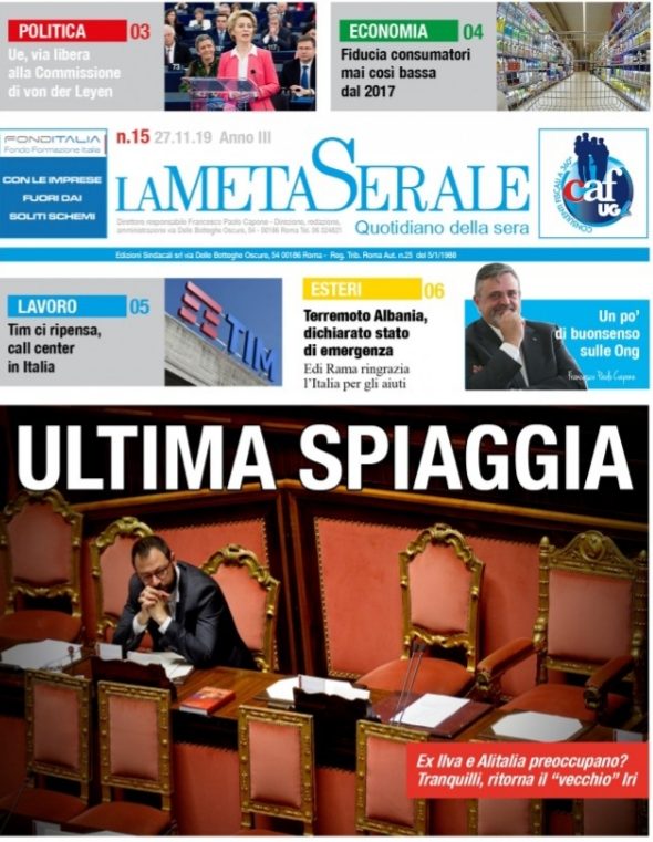 La Meta Serale 15 Anno III – Quotidiano dell'Ugl