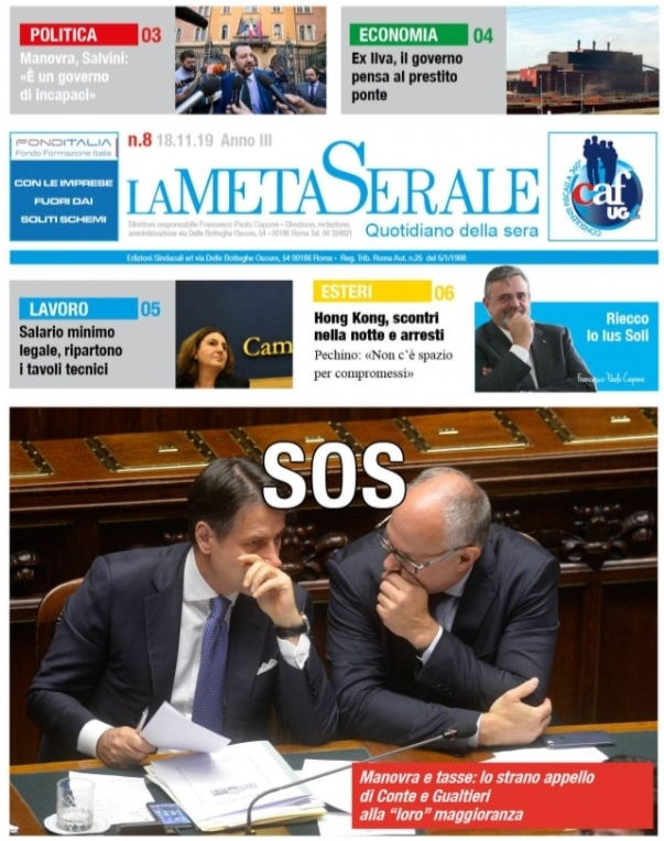 La Meta Serale 8 Anno III – Quotidiano dell'Ugl
