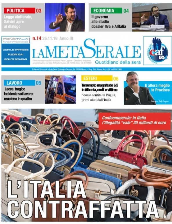 La Meta Serale 14 Anno III – Quotidiano dell'Ugl