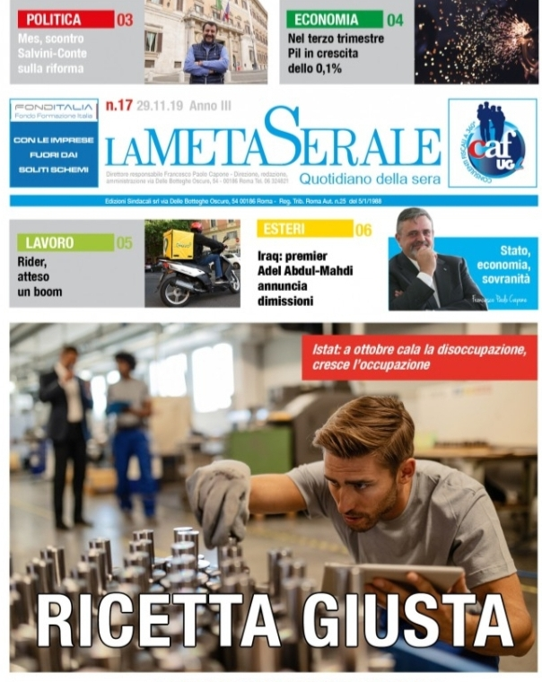 La Meta Serale 17 Anno III – Quotidiano dell'Ugl
