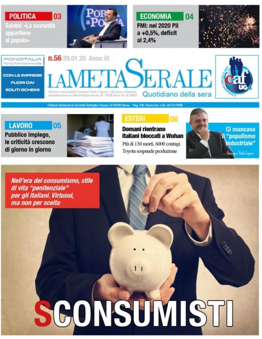 La Meta Serale 56 Anno III – Quotidiano dell'Ugl