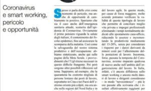 Coronavirus e smart working