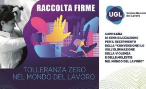 VIOLENZE E MOLESTIE TOLLERANZA ZERO SUI LUOGHI DI LAVORO –  L'ITALIA DEVE FARE DI PIU'