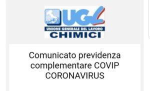 Comunicato previdenza complementare COVIP CORONAVIRUS