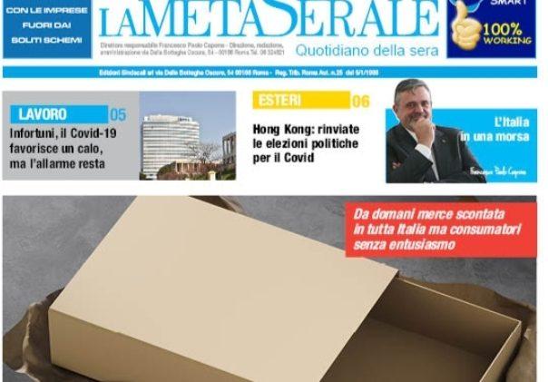 La Meta Serale 186 Anno III – Quotidiano dell'Ugl