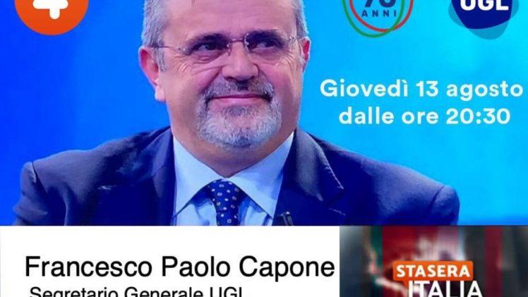 IL SEGRETARIO GENERALE FRANCESCO PAOLO CAPONE OSPITE SU RETE 4: SEGUITECI.