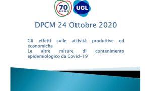 DPCM 24 Ottobre 2020 Analisi Ugl