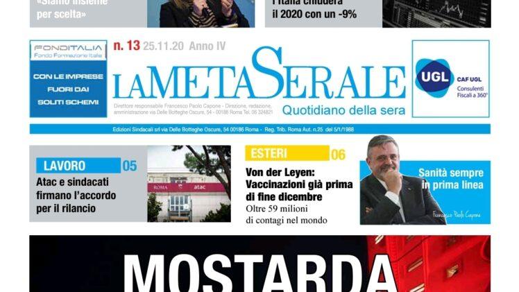 MOSTARDA ALL'ITALIANA – Italia PIL 2020 a Meno 9 % – Termini Imerese, CIGS e tanto altro – CAPONE UGL: Sanità Sempre in Prima Linea