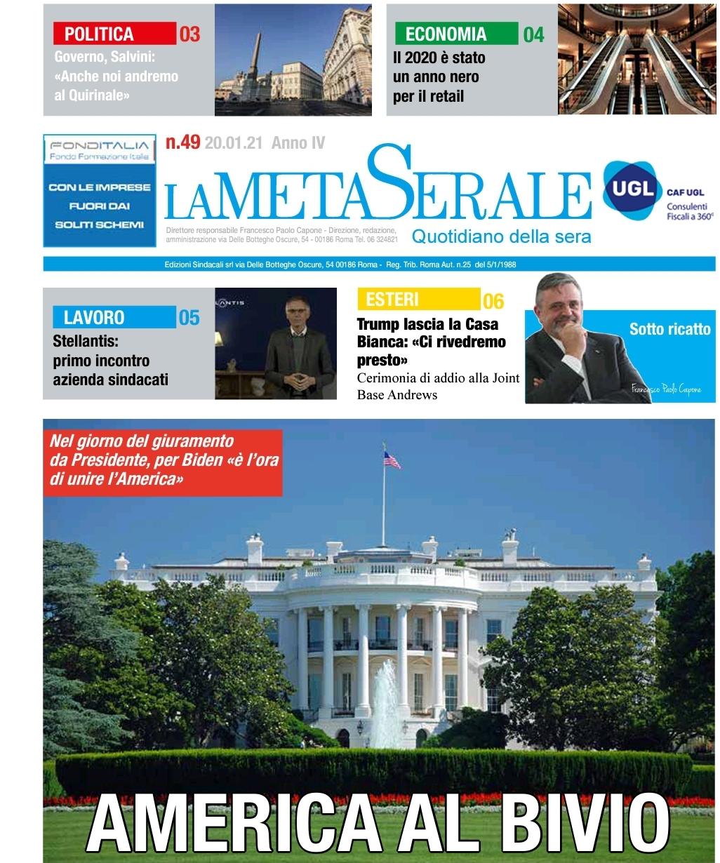 AMERICA AL BIVIO – Anno 2020 nero per il Retail – Capone/UGL: Sotto Ricatto