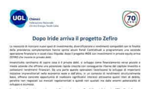 UGL Chimici Mantova / Fasano Bruno: Fondi Previdenziali > Nasce Zefiro, dopo Iride, un progetto all'avanguardia per un miglior futuro