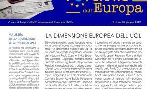 LA DIMENSIONE EUROPEA DELLA UGL – Via libera della Commissione UE al Pnrr italiano