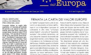 Firmata la Carta dei Valori Europei – Corte dei Conti UE, in Italia chi inquina non paga – UE, Arriva standard su Green Bond