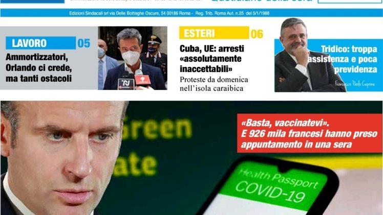 Ammortizzatori, Orlando ci crede, ma tanti ostacoli – Recovery: ANCI e UPI in Cabina Regia Governance Pnrr – Capone Ugl: Tridico, troppa assistenza e poca previdenza