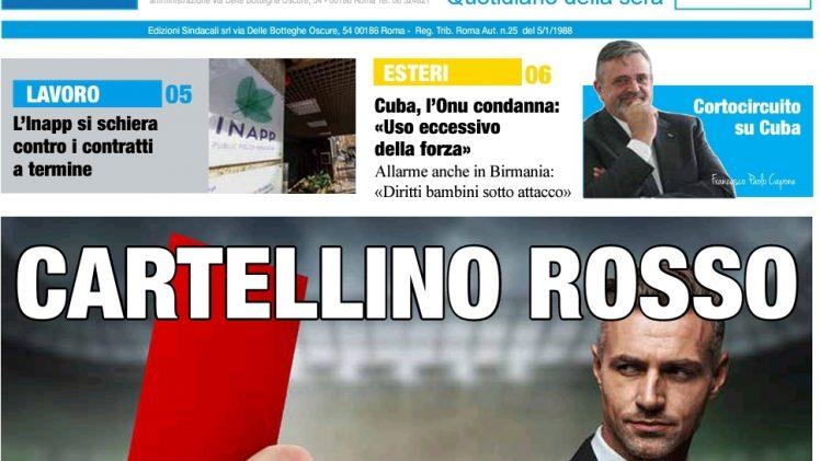 Pnrr: 82 miliardi per il Sud, blindato per legge il 40 % – Pubblico Impiego, è allarme vero – Capone Ugl, Cortocircuito a Cuba