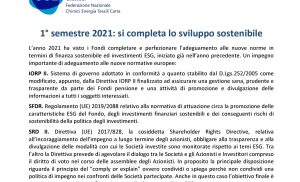 Sviluppo Sostenibile completo, 1° semestre 2021 – Rendimenti Fondi Complementari – Ugl Chimici