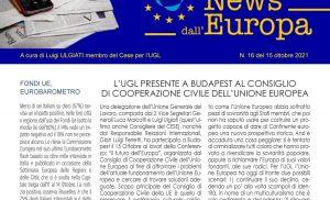 L'UGL Presente a Budapest al Consiglio di Cooperazione civile dell'Unione Europea – CESE, Conferenza sul futuro dell'Europa – Comitato delle Regioni UE